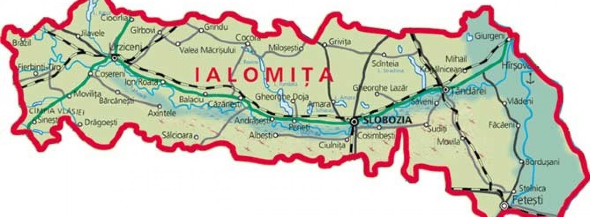 Judeţul Ialomiţa, câmpie cât vezi cu ochii