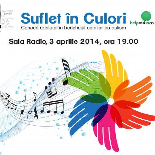"""Concert """"SUFLET ÎN CULORI"""", pe 3 aprilie"""
