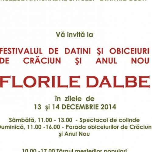 """""""Florile Dalbe"""", 13-14 decembrie, la Muzeul Satului"""