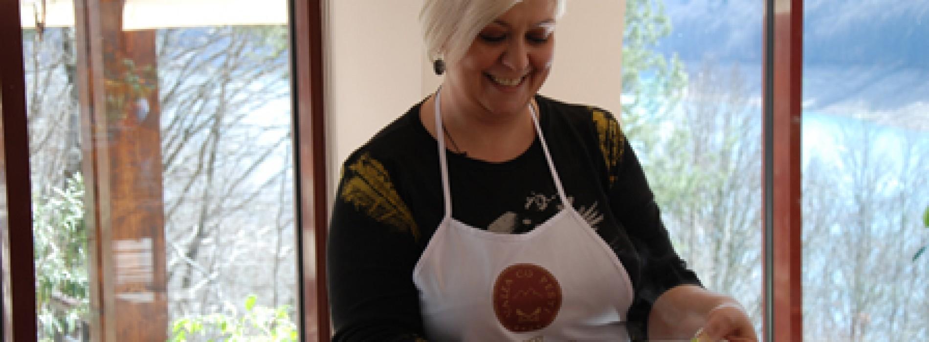 Monica Anghel gătește des somon cu cartofi natur, pentru fiul ei