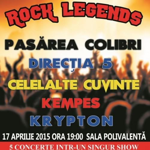 Legende rock, 17 aprilie, la București