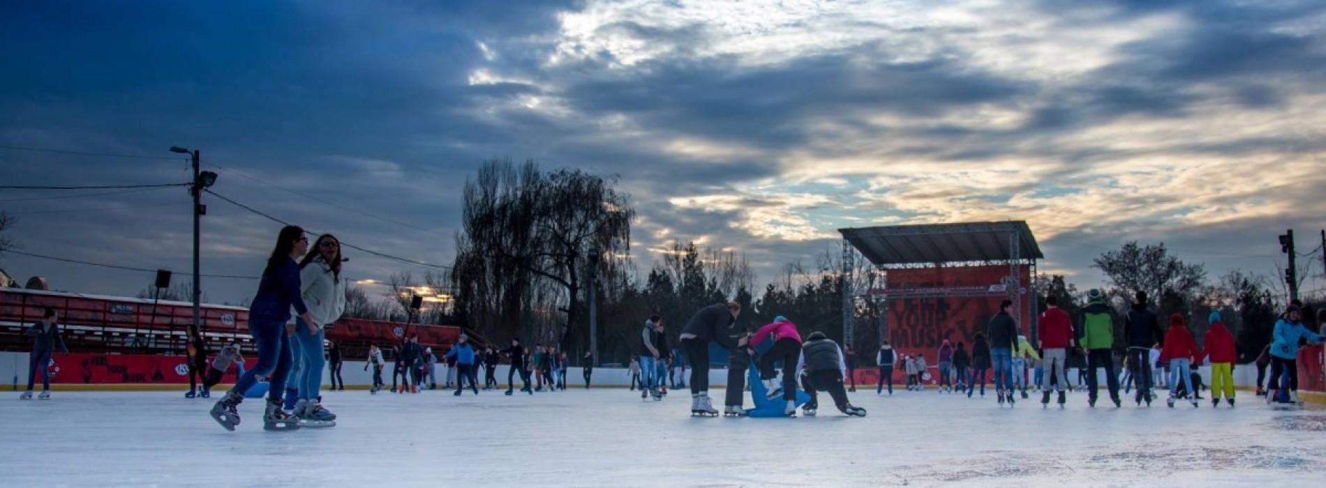 Start la distracție pe gheață, în Drumul Taberei!