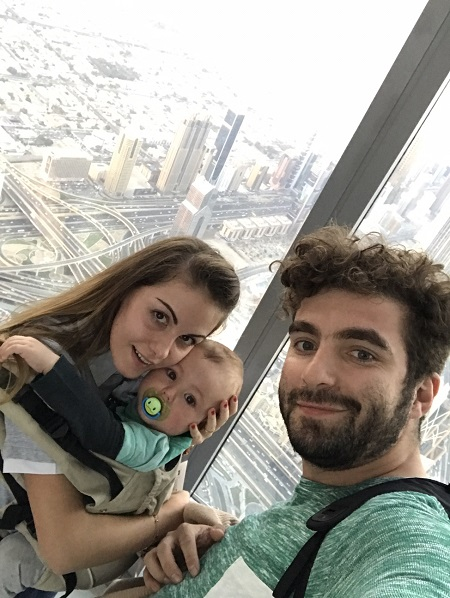 Luca Stuparu, călător cu experiență la un an și patru luni